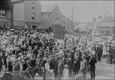Feast Day at The Cross in the early 1900s