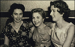 1956 Queen Pauline Talbot with Angela Coleman and Margaret Thurlow