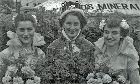 Queen June O'Neil with Lucy Whitelock and Frances Muir