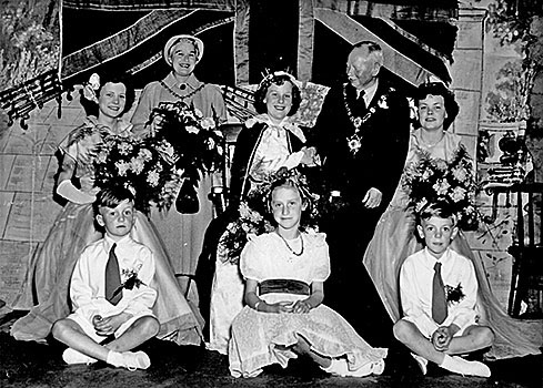 Janet Moisey's crowning in 1953