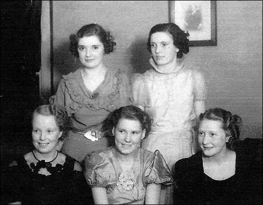 Audrey Larratt on right of picture (1938 Queen)