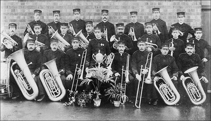 Commemorative photo of Britannia Silver Prize Band - 1905