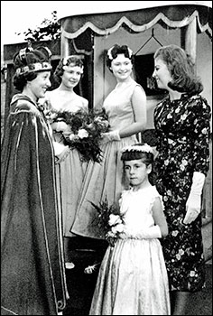 1957 Queen Sadie Williamson, Jennifer Smith, Pat Johnson and little Corrine Saddington