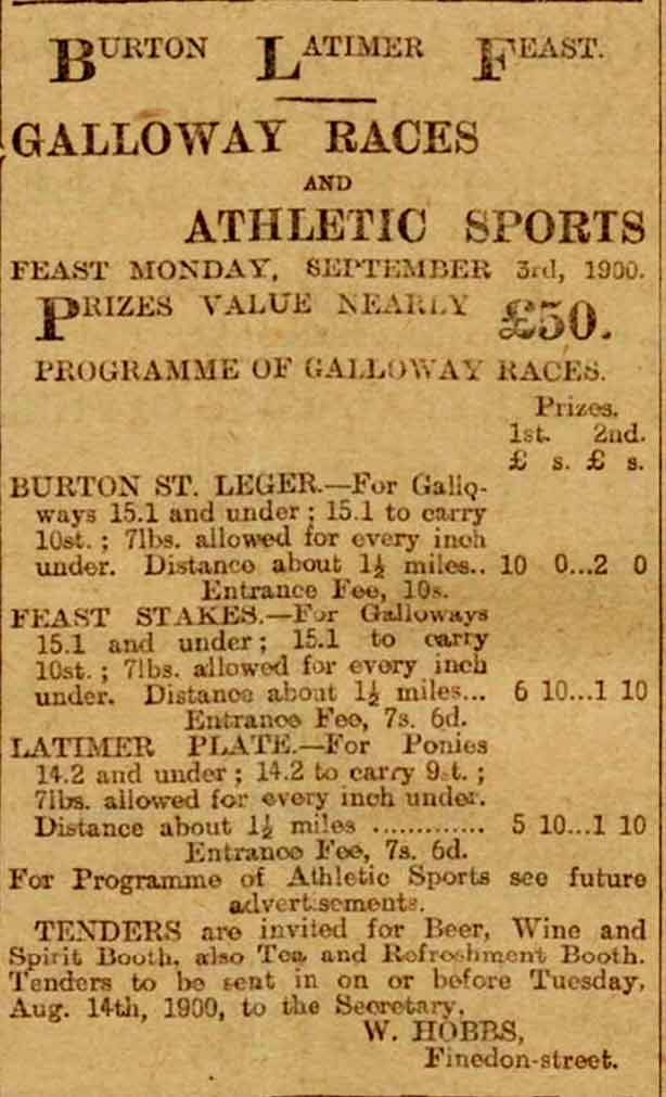 Galloway Races advertisement