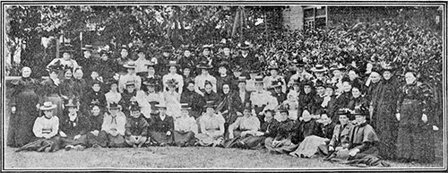 Burton Latimer Mothers' Meeting Outing at Franklin's Gardens, Northanpton, in about 1900