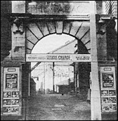 Cinema Archway Entrancewith posters in the 1920s