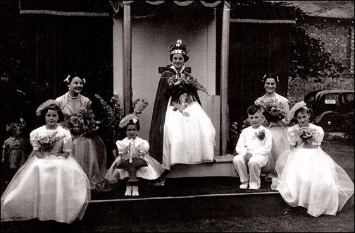 The crowning of Frances Muir in 1955
