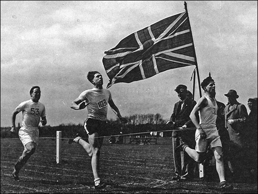 Malcolm Craddock competing at the 1949 Kettering & District Schools Sports day.