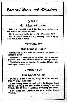 Programme extract from 1959