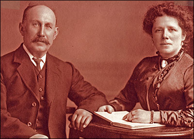 Mr. & Mrs. Tapsell, first managers of Burton Latimer Coffee House