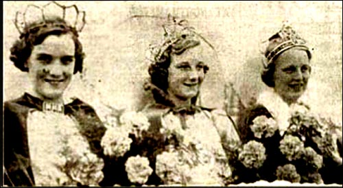 Three Trade Queens - Miss Sylvia and Rose Johnson and Miss Sylvia Conroy.