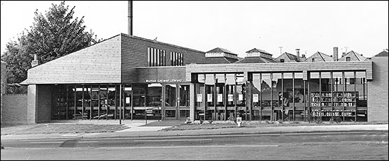 Photograph of the Town Library in 1973