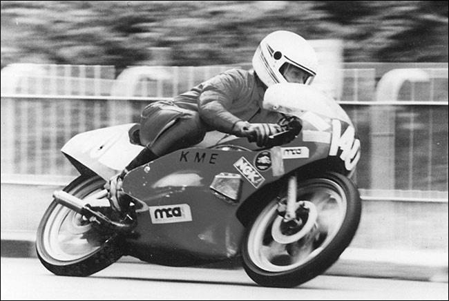 Les Judkins at the Isle of Man TT in 1989