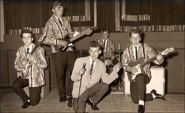 Local rock group The Night Hawks - seen in 1960 at The Palace Cinema, Burton Latimer