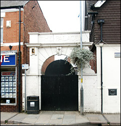 The entrance to the former Cinema - still standing in 2005