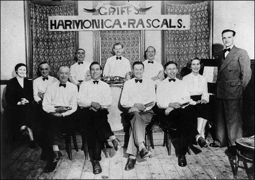 Griff's Harmonica Rascals - a portrait photo taken in The Conservative Club in Church Street