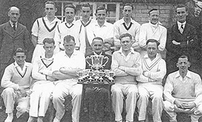 Photo 1939 Burton Latimer Cricket Team winners Division One Section B Dolben Cup