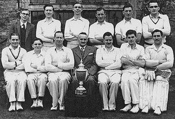 Photo Burton Latimer Cricket Second Eleven winners Division 2 North 1952