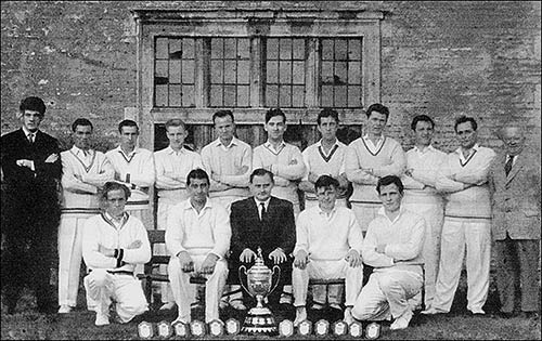 Photo of Burton Latimer Town Cricket Club 1966 winners of Kettering & District Div 1 Champions - 1964, 1965, 1966