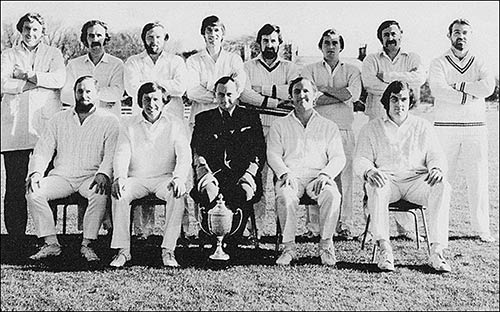 Photo Burton Town Cricket Club 1977, First XI County League Division 1 Winners