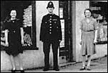 P.C. George Ward outside Pateman's shop at the bottom of Station Road in the 1940s