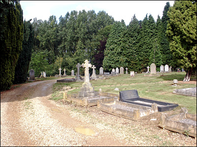 Photograph of the first section of the present main cemetery, seen from the south-east