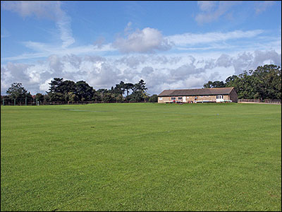 A view of the Cricket Ground and Pavilion