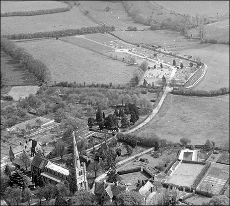 The cemetery from the air 1958