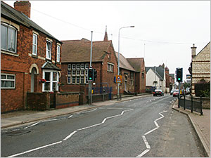 Photograph showing school frontage from the High Street