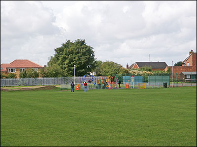 Photograph of the Recreation Ground showing the Children's Play Area