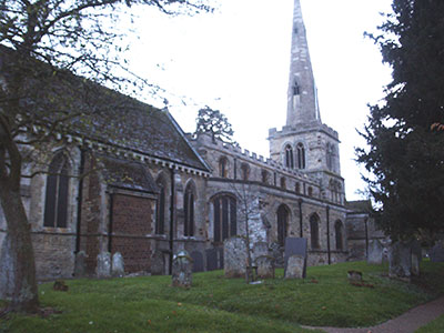 Photograph showing St Mary's Church from the north side