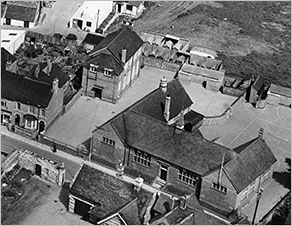 Aerial view of Council School 1950s