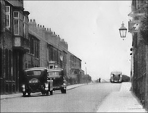 A Timson's bus parked outside the family home at the top of Finedon Street