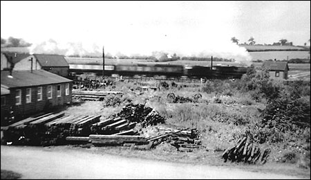 Photograph showing Wagon Works at Finedon Sidings 1950s