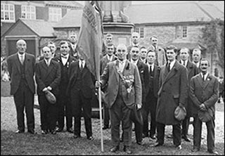 Members of Burton altimer British Legion at the memorial in 1930