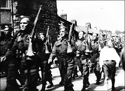 Home Guard parading in Church Street
