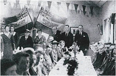 Dinner taking place in the Legion Room 1935
