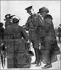 General Lord Horne chatting with a disabled soldier after the service.
