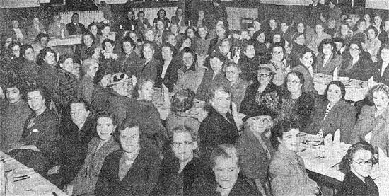Ladies attending the annual dinner and entertainment in the Alumasc canteen in 1949