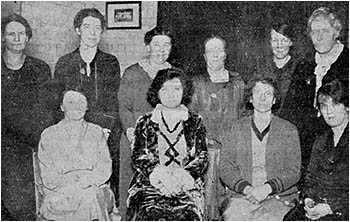 Committee responsible for arrangements for tea and social January 1931