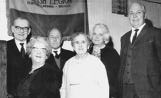 Social Event c1962 L-R: Jack Benford, Pearl Fennell (Piano), Billy Law, Mrs Spriggs, ?, Bob Mackintosh