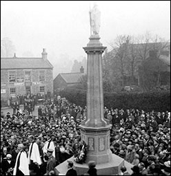 Photograph showing the Dedication Service of the War Memorial in 1922