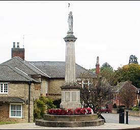 Photograph of the War Memorial at The Cross in 2005